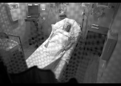 cancer patient in hospital room